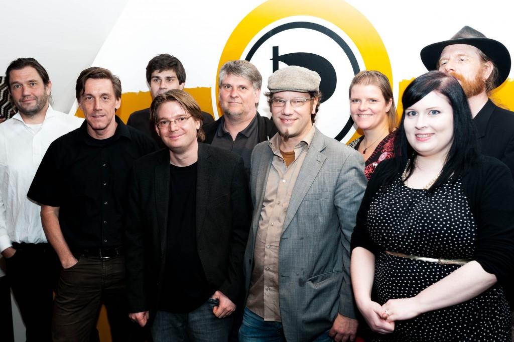 Landesvorstand, MdL und Mitarbeiter der Landesgeschäftsstelle der Piratenpartei NRW - Foto: Christian Steinmetz, CC-BY-SA