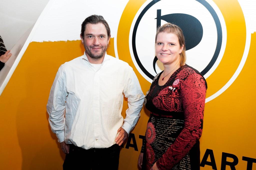 Britta Stephan und Christopher Schrage, Mitarbeiter in der Landesgeschäftsstelle der Piratenpartei NRW - Foto: Christian Steinmetz, CC-BY-SA