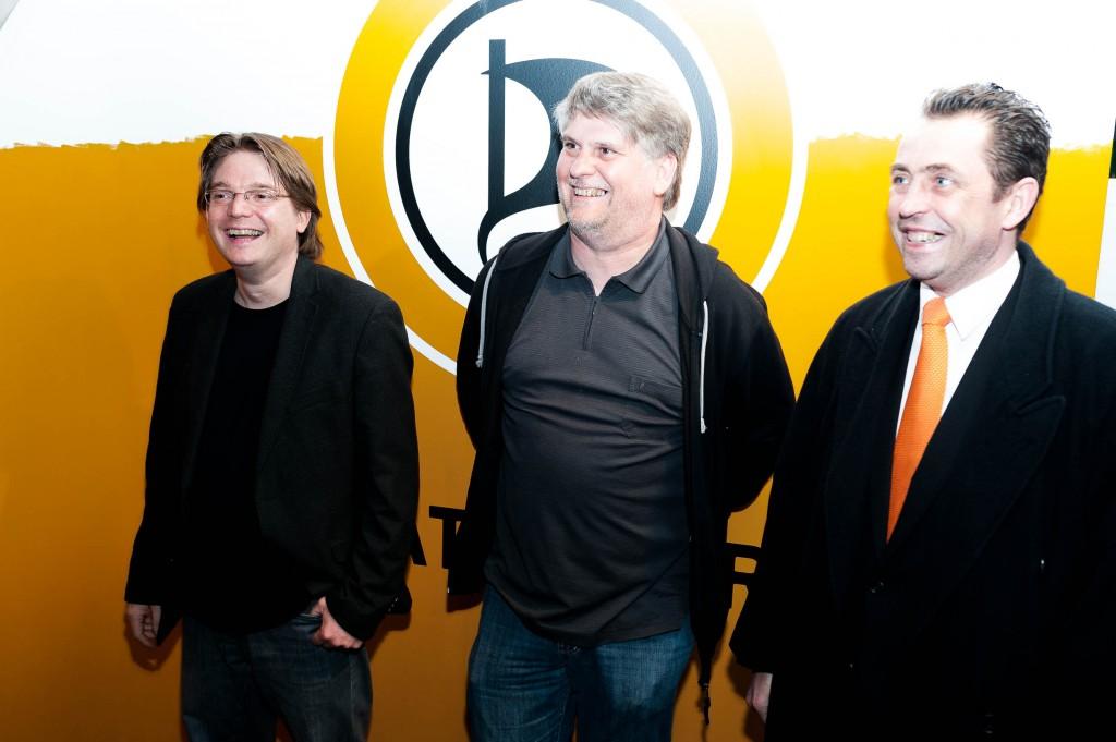 Oliver Bayer, Kai Schmalenbach und Ratsherr Frank Grenda - Foto: Christian Steinmetz, CC-BY-SA
