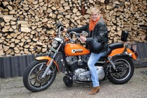 M.Pieper auf Harley