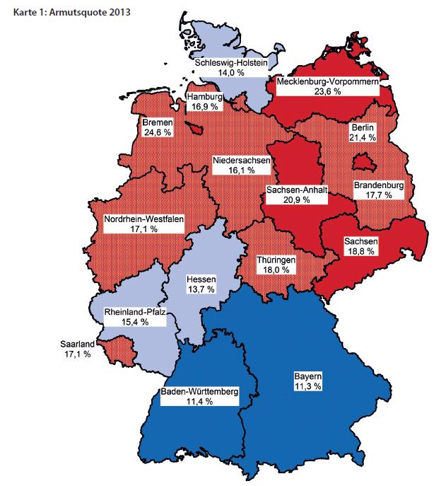 Der paritätische Gesamtverband: Armutsquote 2013