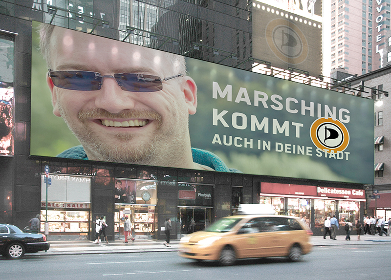 MARSCHING KOMMT - PIRATEN NRW - BILLBOARD - be-him CC NBY NC ND