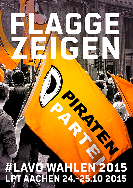 PIRATEN - LPT152 - AACHEN - FLAGGE ZEIGEN - be-him CC BY NC ND